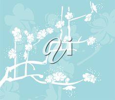 iCLIPART - A Floral Spring background