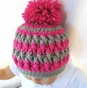 Pom Pom Beanie  Hat Crochet Pattern - via @Craftsy