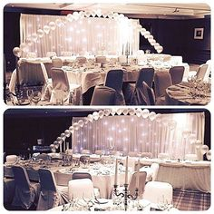 Beautiful balloon arch and backdrop for an ice themed wedding #nicheevents #nichewedding #nichestylists #all_shots #bride #bridetobe #brideinspiration #chaircovers #engaged #follow #follow4follow #followforfollow #gettingmarried #insta #balloonarch #starl