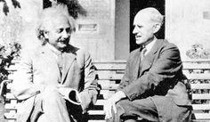 Albert Einstein with Sir Arthur Eddington. The 1919 Total Solar Eclipse verified Einstein's Theory of General Relativity (Image Credit: Smithsonian)