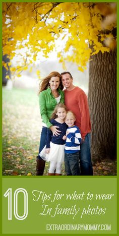 family photo outfits Do you know how to coordinate your family outfits for picture day? Check out these tips for what to wear for family photos and you will have the perfect photos Family Photos What To Wear, Fall Family Pictures, Fall Photos, Family Pics, Fall Family Portraits, Family Portrait Poses, Family Posing, Autumn Photography, Photography Ideas