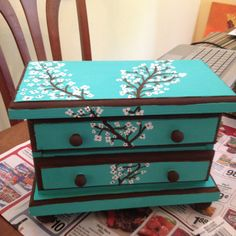 Jewelry box painting