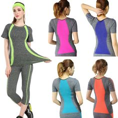 New Style Yoga Gym Compression Tights Women's Sport T-shirts Dry Quick Running Short Sleeve Fitness Women Clothes Tees tops Workout Tops, Workout Shirts, Hot Yoga Wear, Yoga Style, Vetements T Shirt, Sport T-shirts, T Shirt Top, Compression T Shirt, Workout Attire