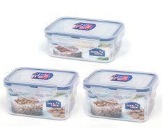 3Pcs Lock u0026 Lock Classic Food Storage Plastic Container Set(470mL x2 350mL x1) #LockandLock  sc 1 st  Pinterest & Lock u0026 Lock BPA FREE Rice Cereal Grain Storage Container 10kg + ...
