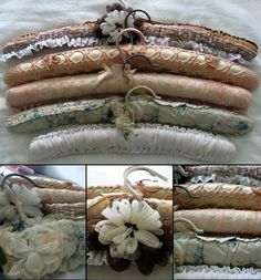 Beautiful vintage covered coat hangers