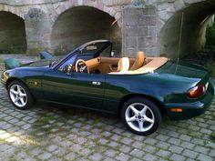 BRG (British Racing Green) - BRG Miata - Mazda Miata MX-5 Picture Gallery Dream Car Garage, My Dream Car, Convertible, Mazda Roadster, British Sports Cars, Mazda Miata, Cabriolet, Small Cars, Porsche