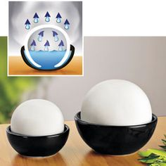 Hmm...a natural humidifier that works by putting moisture in the air with no electricity at all, just through evaporation. My question is, what's the difference between this and just letting a pan of water evaporate? how is this any better?...Decora Room Humidifiers, Natural Humidfiers from Solutions