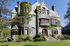The Charles LaDow House, designed by Ernest Hoffman in the Romanesque style, is…