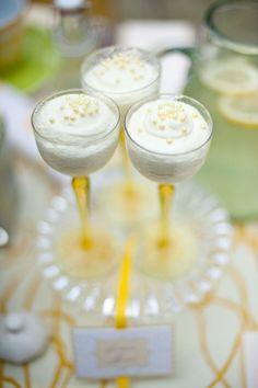 from tea party shoot - lemon mousse