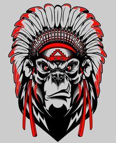 jpg by Dermot Reddan Badass Drawings, Tattoo Drawings, Art Drawings, Graffiti Doodles, Graffiti Art, Shen Long Tattoo, Tattoo No Peito, Indian Tattoo Design, Gorilla Tattoo