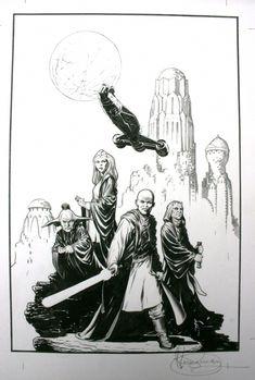 Mark Schultz - Star Wars cover Comic Art