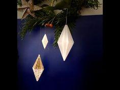 origami diamond - YouTube
