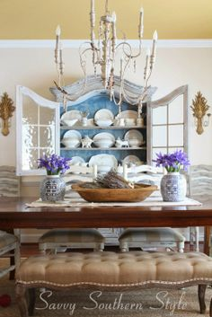Savvy Southern Style French Country dining room