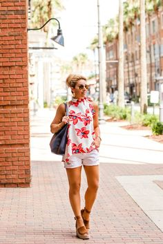 A floral Bow Top for both now and later