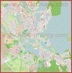 Подробная карта города Шверин