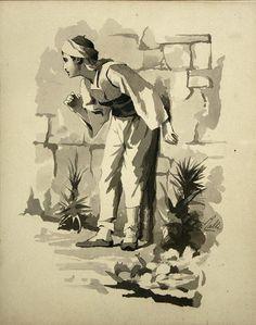 Ράλλης Θεόδωρος-Εικονογράφηση για το διήγημα του Δ.Βικέλα''Λουκής Λάρας''