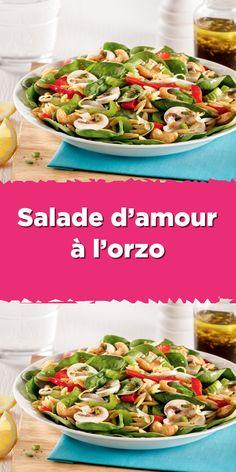 Ricardo Recipe, Green Salad Recipes, Pasta Salad, Meal Prep, Macaronis, Side Dishes, Vegan Recipes, Clean Eating, Veggies
