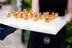 canapes served with dry ice - Google Search