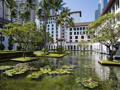 Bangkok's luxurious Sukhothai Hotel offers a choice of rooms in 9 categories, most overlooking the lotus ponds, courtyard garden and pools