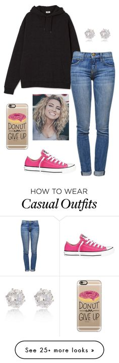 """Casual"" by j-murphy-1 on Polyvore featuring Converse, Current/Elliott, Casetify and River Island"
