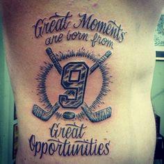 Inspiration for Tim 99 hockey tattoo for Matt Tattoo Girls, Back Tattoo Women, Mom Tattoos, Hockey Tattoos, Tattoos For Guys, Tatoos, Hockey Senior Pictures, Hockey Posters, Hockey Quotes