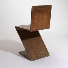 Gerrit Thomas Rietveld 'Zig-Zag Chair' 1941 - RISD MUSEUM