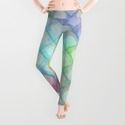 Abstract pattern no. 9 by Christine Baessler Leggings