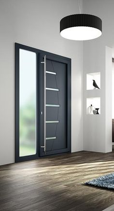Janneau Joinery Window and window producer PVC aluminum and Modern Entrance Door, Modern Front Door, House Entrance, Room Door Design, Window Design, Home Interior Design, Interior Architecture, Aluminium Doors, House Doors