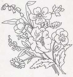 手工 花朵 图纸