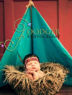 LITTLE FEATHER Native American Indian headband with natural feather for newborn baby prop Thankful Blessings & Gratitude. $12.00, via Etsy.