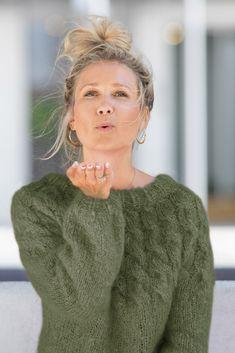 Mohair Sweater, Loose Sweater, Drops Design, Drops Karisma, Drops Kid Silk, Rowan Knitting, Crochet Magazine, Pullover, Stockinette