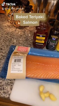 If you hate fish but you love flavor...try out this recipe! I'm not a huge salmon fan and I can tell you that this recipe did not have a fishy taste or aftertaste. The taste is very sweet. Salmon Recipes, Fish Recipes, Seafood Recipes, Snack Recipes, Dinner Recipes, Cooking Recipes, Snacks, Baked Teriyaki Salmon, Seafood Dinner