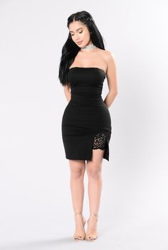 Wearing What You Think Dress - Black