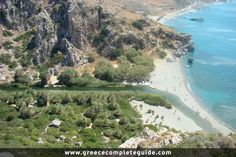 """Preveli beach and lagoon sometimes known locally as """"Palm Beach"""", is located below the monastery, at the mouth of the Kourtaliotiko gorge. Travel Things, Us Travel, Places To Travel, Travel Guide, Rethymno Crete, Greek Islands, Greece Travel, Beautiful Islands, Palm Beach"""
