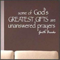 Unanswered Prayers Friday, September 20, 2013