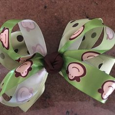 Monkeys!! hair bows by GalleriaBowBoutique on Etsy