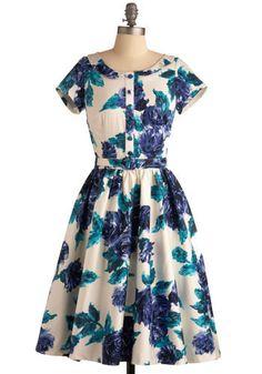 blue, flowers, vintage