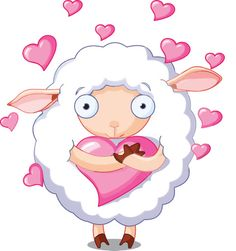 Buy In Love Sheep by Dazdraperma on GraphicRiver. Illustration of very cute sheep holds a heart. Cute Cartoon Animals, Cute Animals, Images Star Wars, Sheep Vector, Cute Sheep, Clip Art, Valentine's Day Outfit, Cute Images, Art And Illustration