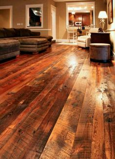 LOVE the barn wood floors