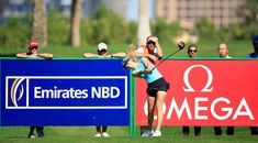 Paige Spiranac Photos Photos - Paige Spiranac of the United States waits to play her second shot on the par 4, ninth hole during the second round of the 2015 Omega Dubai Ladies Masters on the Majlis Course at The Emirates Golf Club on December 10, 2015 in Dubai, United Arab Emirates. - Omega Dubai Ladies Masters - Day Two