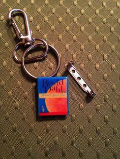 Mini Book Pin & Keychain: James and the Giant Peach by Roald Dahl Mini Book Jewelry by GidgetsTreasures on Etsy #jamesandthegiantpeach #roalddahl #childrensbooks #minibookjewelry #minibooks #bookpins #bookkeychains