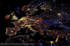 Europe - New Year's Eve - Satellite photos