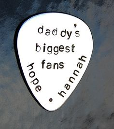 Custom Guitar pick Hand stamped guitar pick by SoBlessedDesigns, $18.00