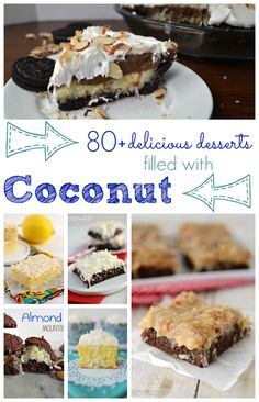 Over 80 Delicious Coconut Desserts from www.crazyforcrust.com