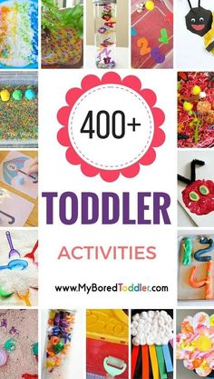 Toddler Activity Ideas Galore! So many great toddler ideas, toddler crafts, toddler activities, toddler sensory play, toddler indoor activities and toddler outside activities.