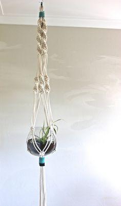 planter macrame hanging planter hanging basket by macandmore