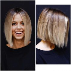 Textured Blunt Bob- Textured Blunt Bob Tired of being bald? Active formula more hair at the entrance - Thick Hair Styles Medium, Medium Hair Cuts, Short Hair Cuts, Short Hair Styles, Blunt Hair, Great Hair, Hair Today, Pretty Hairstyles, Hair Trends