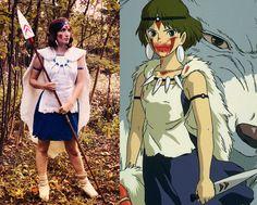 Animé Halloween, Diy Halloween Costumes, Halloween Cosplay, Costume Ideas, Princesse Mononoke Cosplay, Anime Costumes, Cosplay Costumes, Princess Mononoke Wallpaper, Mononoke Forest