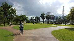 First time cycling from ECP to the Marina Bay Area and who knew the view would be so enjoyable! I'm never cycling from ECP to Changi again. This route is so much more rewarding scenery-wise. by karynabx