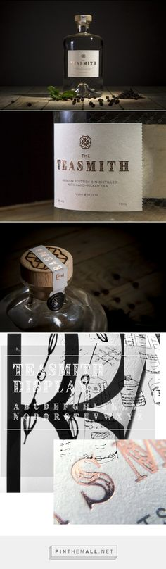 Teasmith Gin - Packaging of the World - Creative Package Design Gallery - http://www.packagingoftheworld.com/2017/01/teasmith-gin.html